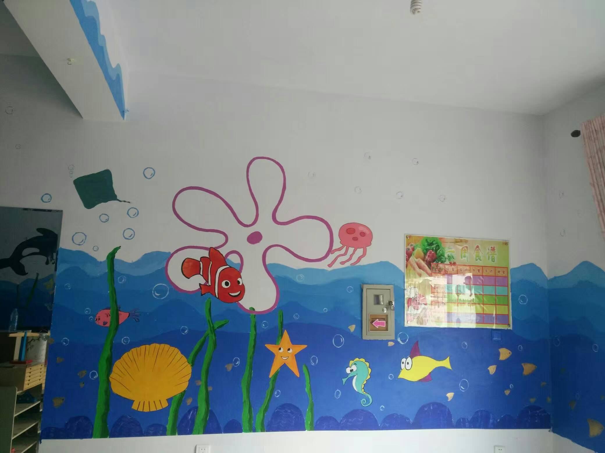 室内墙体绘画