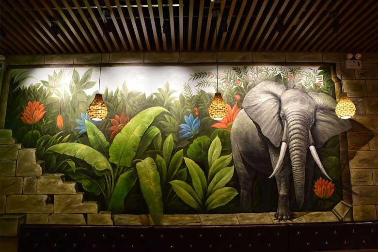 墙体彩绘作为设计元素之一被逐渐重视