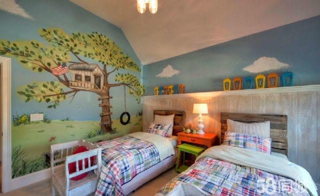 卧室中的墙体彩绘怎么做