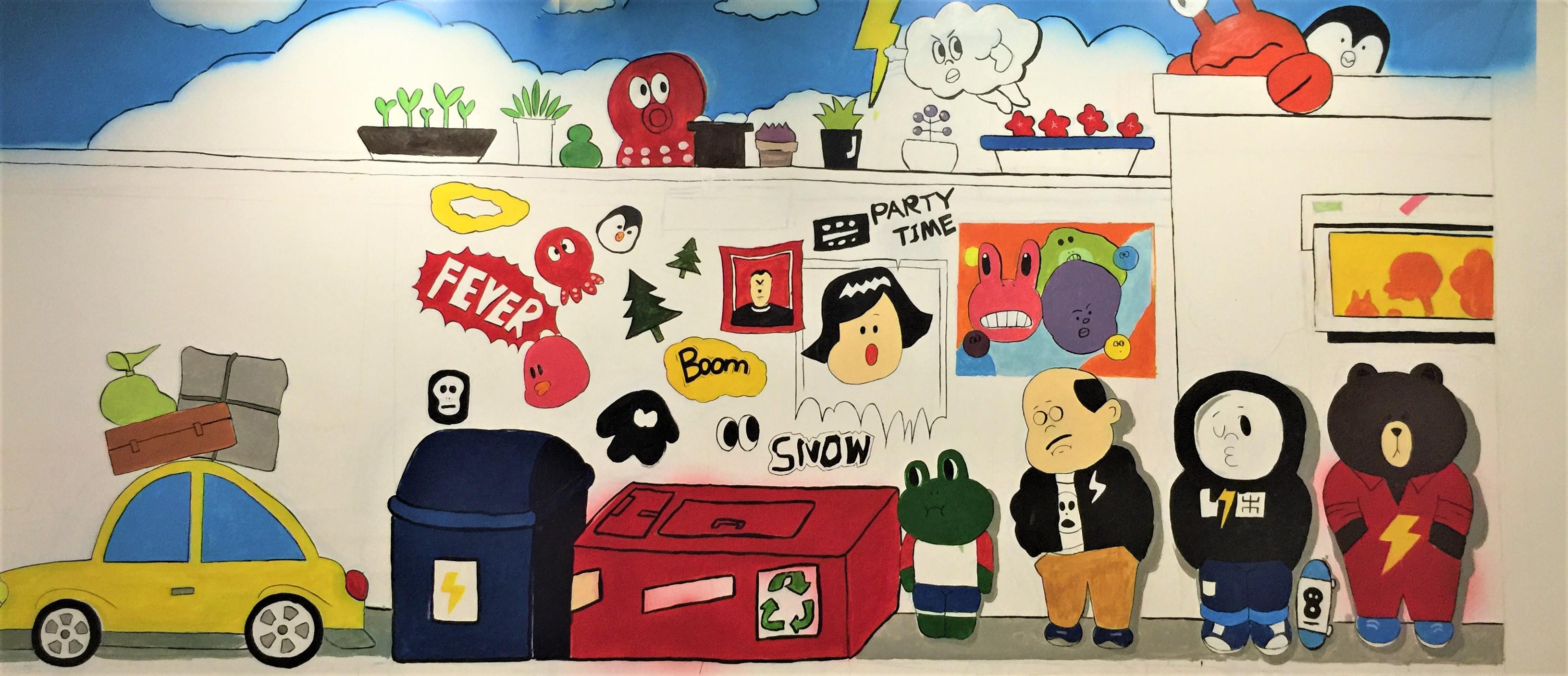 儿童房手绘墙面彩绘在绘制时要求要比一般的室内手绘墙严格