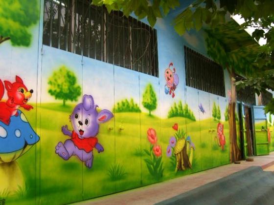 南昌幼儿园彩绘,南昌幼儿园墙体彩绘,南昌墙体涂鸦,南昌涂鸦墙体