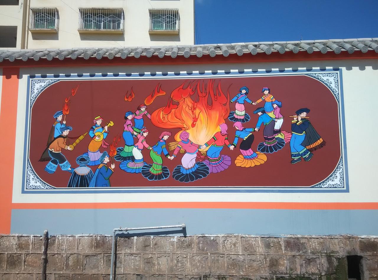 南昌室内墙绘,南昌美丽乡村文化墙彩绘,南昌美丽乡村墙绘