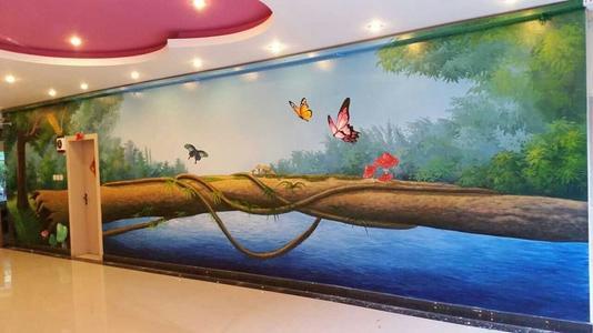 南昌彩绘墙手绘,南昌装饰画手绘,南昌地面彩绘,南昌3d立体画彩绘