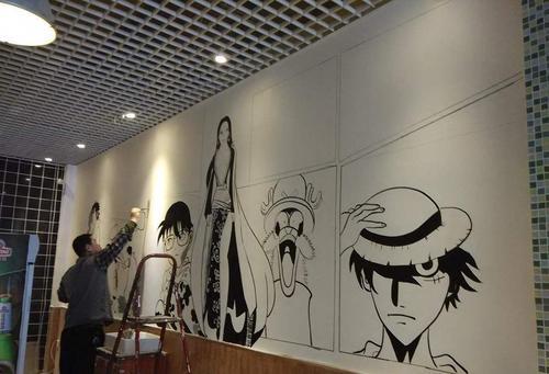 南昌餐厅手绘画,南昌画画涂鸦,南昌墙画彩绘,南昌墙体绘画公司