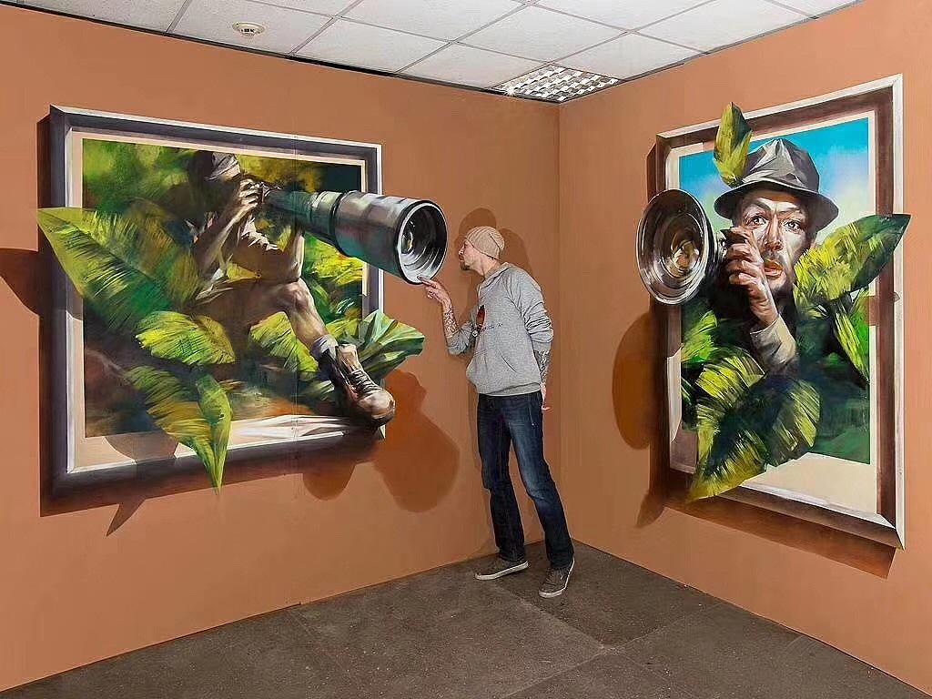 南昌3d画墙绘,南昌涂鸦墙体彩绘,南昌涂鸦手绘,南昌墙绘背景墙