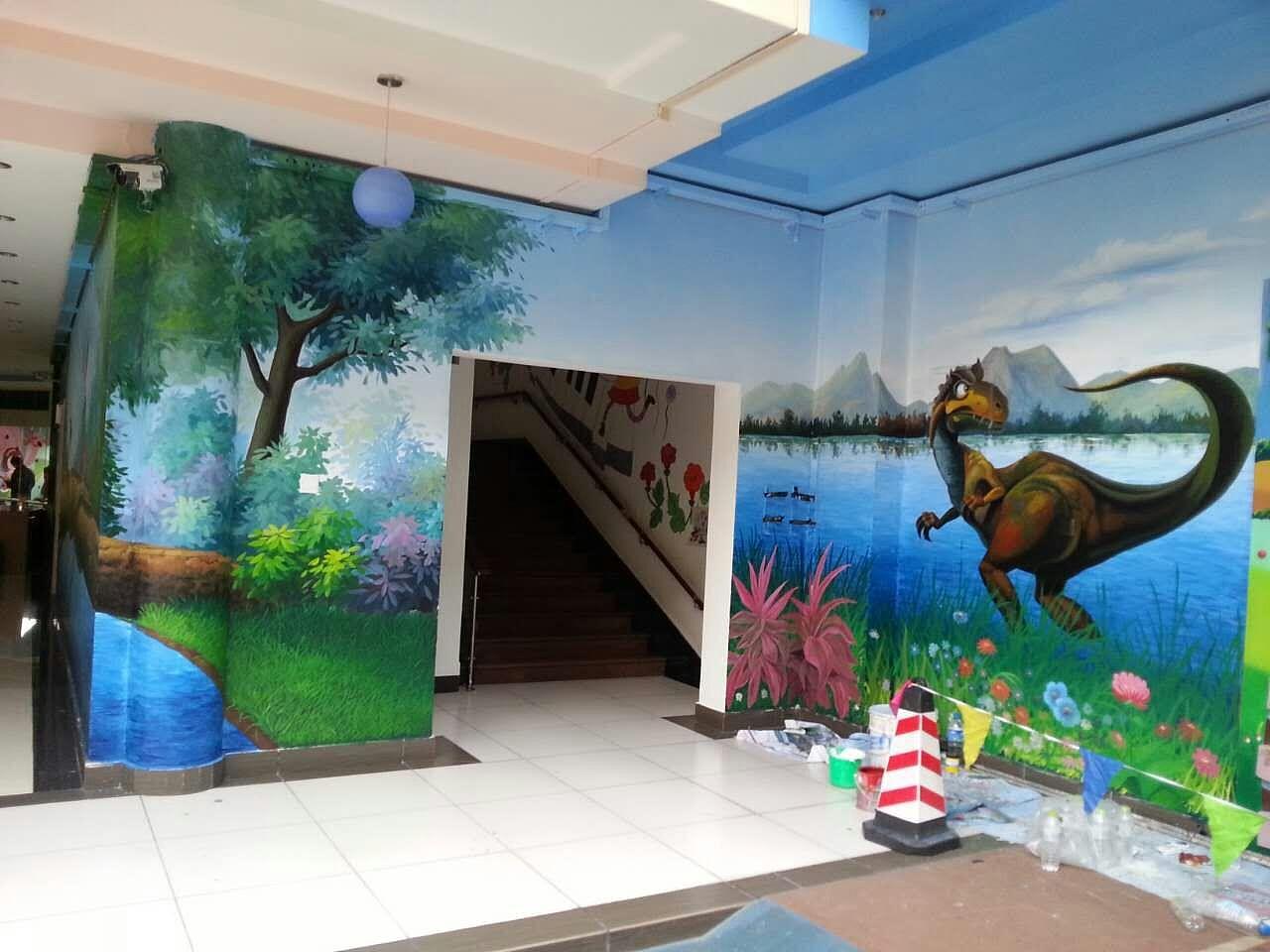 南昌彩绘墙壁公司,南昌立体画手绘,南昌背景墙墙体彩绘,南昌手绘背景墙