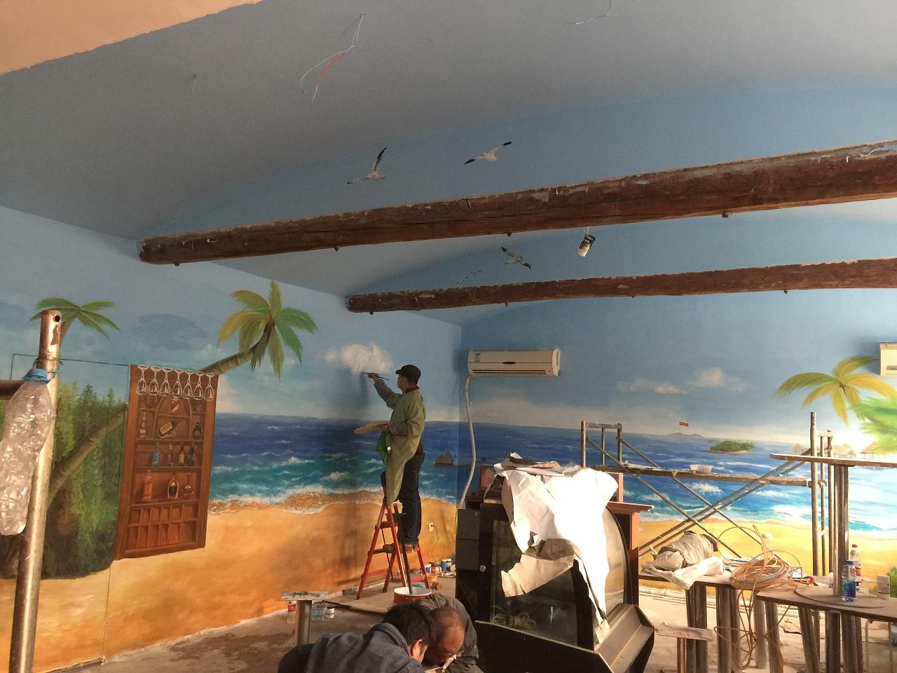 南昌墙体广告喷绘,南昌户外墙体喷绘,南昌幼儿园外墙绘画,南昌美丽乡村墙画手绘